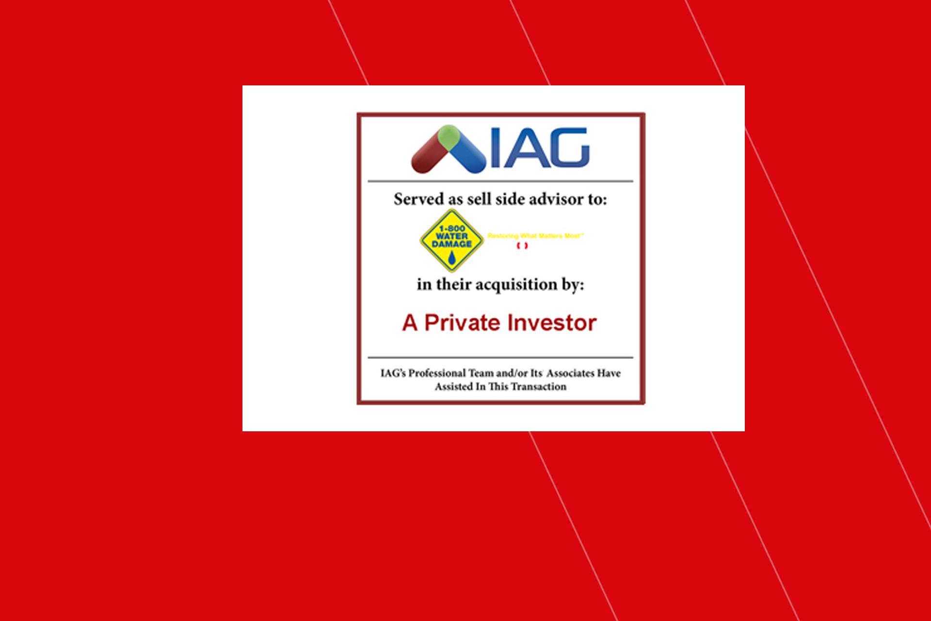 iag sells 1800 water damage