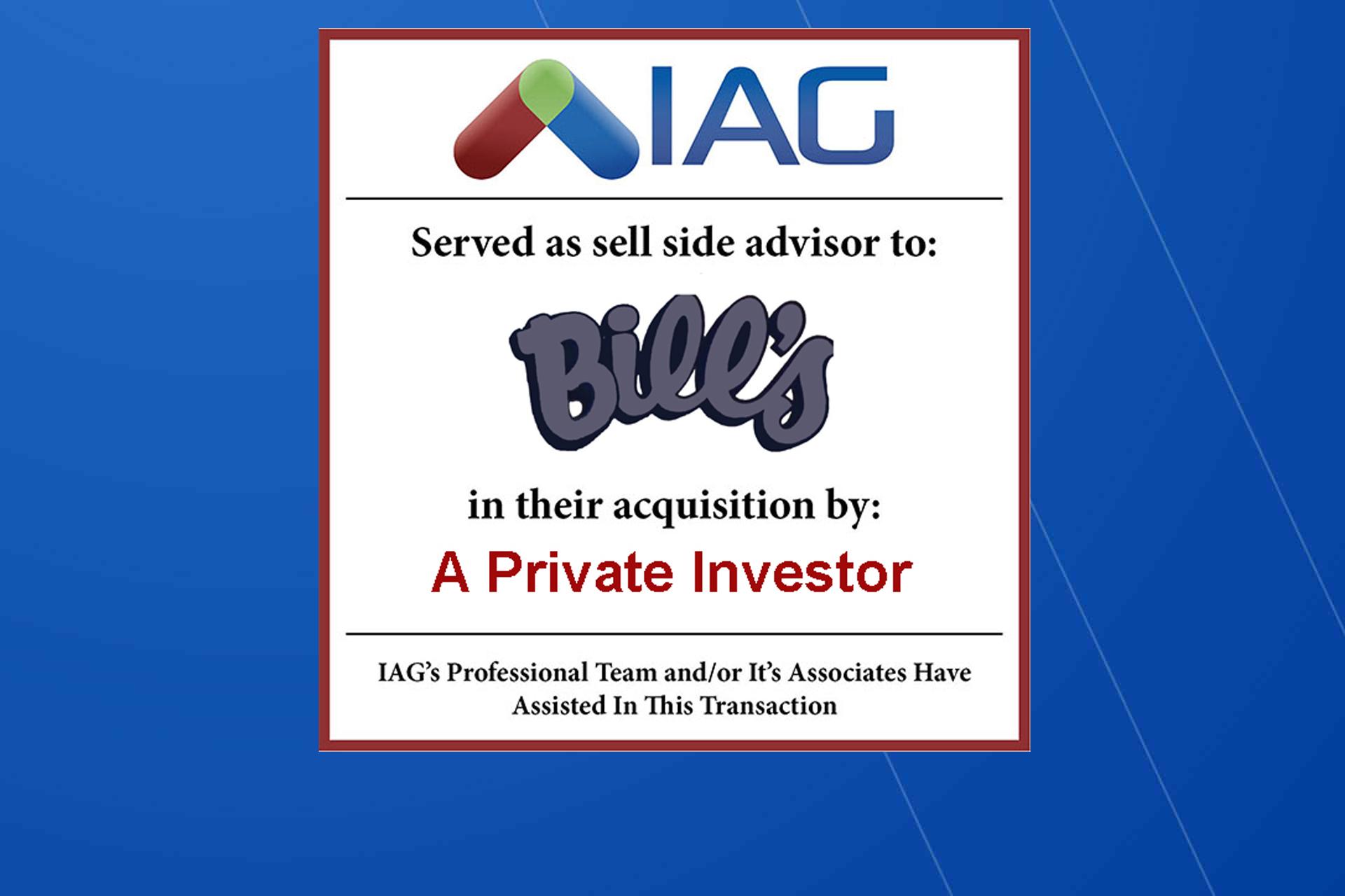 iag sells bills body and paint shop