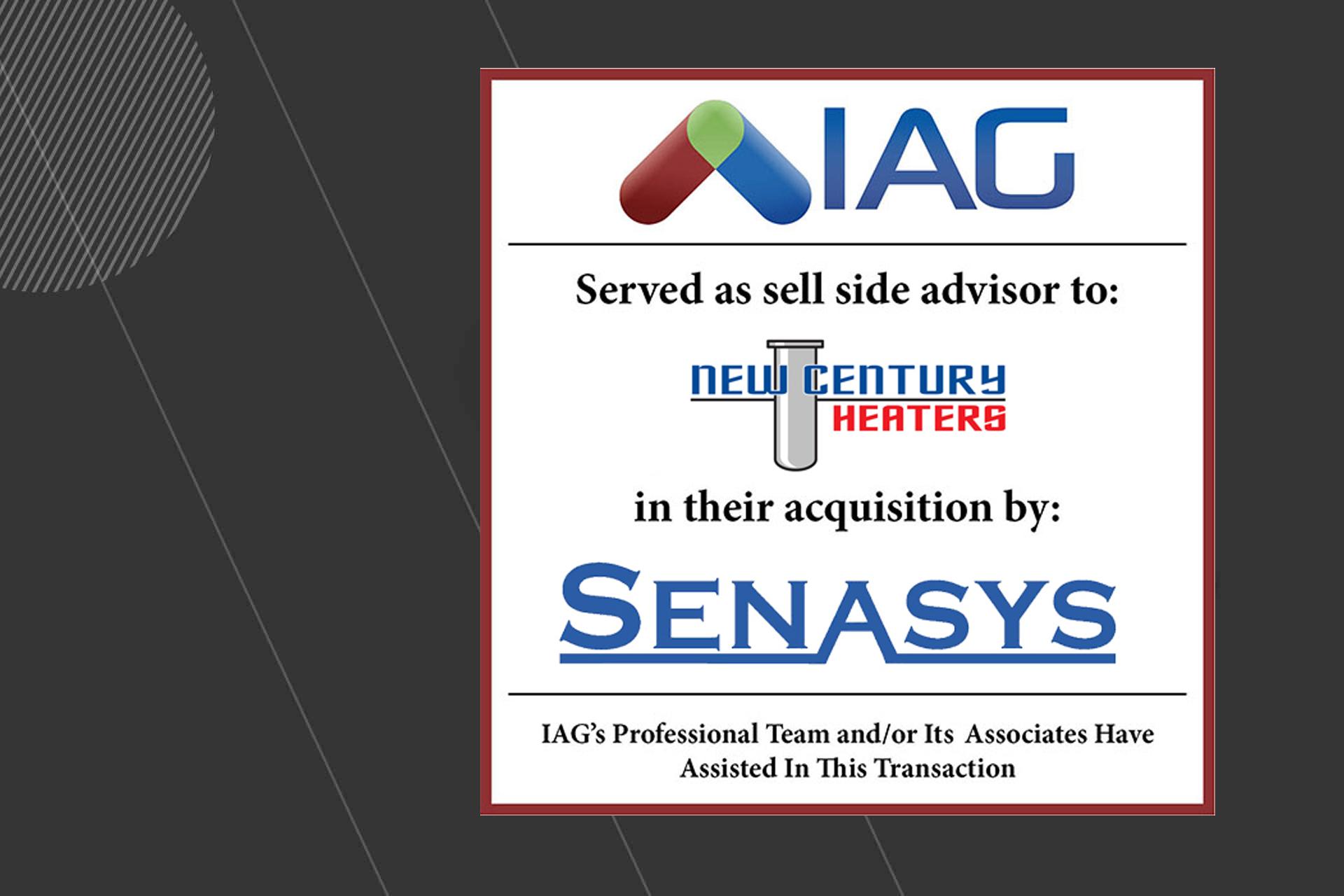 iag sells new century heaters